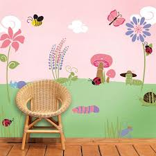perfectly princess bedroom wall mural stencil kit bugs and blossoms wall mural stencil kit