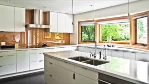 contemporary kitchen backsplash kitchen modern with bay window