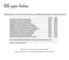 wedding invitation cost paper lantern printing price list for wedding