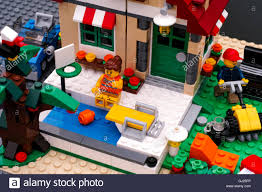 lego house with pool and backyard there are lego near pool