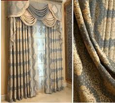 Jacquard Curtain Privacy Retro Curtains Drapes Of Jacquard Patterns