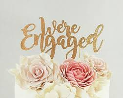 a and we re cake topper engagement topper etsy