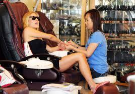kristin cavallari at a nail salon in los angeles gotceleb