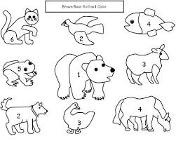 brown bear brown bear coloring pages brown bear