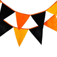images of halloween flag banner digital orange gray stitched