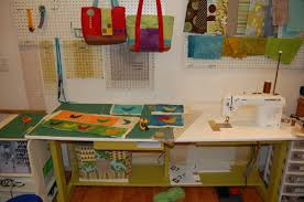 my new sewing table candied fabrics