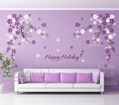 Purple Wall Decals For Nursery Wall Decal Wall Decals Flowers Cherry Blossom Wall
