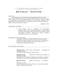 Resume Samples With Summary by Easy To Edit Make Up Artist Resume Sample With Objective Plus