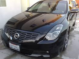nissan altima black 2007 08 09 nissan altima 2 door coupe jdm ccfl halo projector