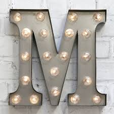 lettre decorative metal industrial style led carnival letter lights home wares