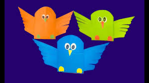 how to make birds that fly color papers paper bird craft birds