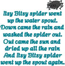 bitsy spider embroidery design