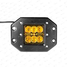 jeep yellow duraflux 60w cree led cube pods yellow work fog light flush mount