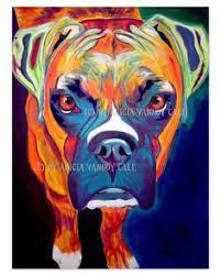 boxer dog art whimsical boxer dog painting whimsical boxer dog fine art print