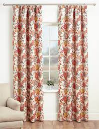 Pink Pleated Curtains Bright Floral Pencil Pleat Curtains M U0026s