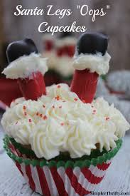 thanksgiving cupcakes for kids santa legs