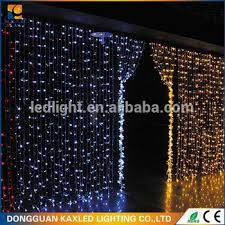 black pvc cable led waterfall curtain light string led wedding