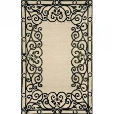 Trans Ocean Rugs Shop Spello Wrought Iron Black Outdor Rug 2ft X 3ft Liora