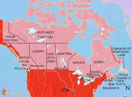 map if canada map of canada at 1914ad timemaps