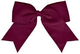 maroon ribbon chassé jumbo hair bow omni cheer