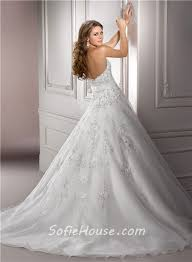 Wedding Dresses Ball Gown Ball Gown Strapless Beaded Lace Organza Wedding Dress With Flower Sash