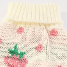 strawberry sweater strawberry shortcake pattern sweater clothing