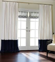 White And Navy Curtains Flat Panels Rod Pocket Drapes Pair White And Navy Blue