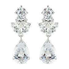 clip on bridal earrings bridal wedding clip on earrings glitzy secrets