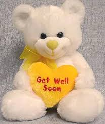 get well soon teddy 8 soft teddy with get well soon heart