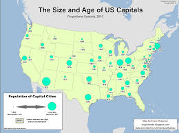 Map Of The United States Capitals state capital visualization evan u0027s map blog