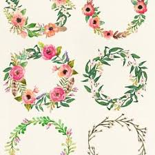 best backgrounds flowers watercolor clipart floral frame