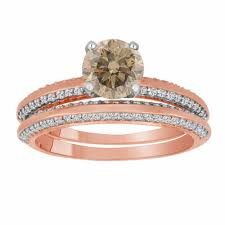 1 23 carat chagne diamond engagement ring set gold fancy