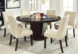 60 round glass dining table modern 60 inch rees espresso round dining table with lazy susan in