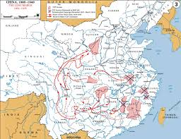 Chinese Map 1934 1935 The Long March And Ccp Soviets Chinese Revolutionary