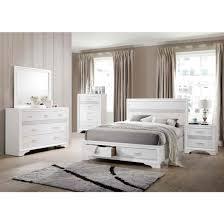 coaster miranda storage bedroom set in white