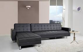 corner chaise sofa buy leader lifestyle spencer black faux leather corner sofa bed