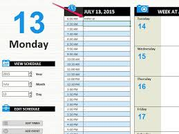 24 Hour Work Schedule Template Excel How To Create A Weekly 24 Hour Calendar With Excel Techwalla Com