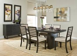 dining room carpet ideas dark wood dining table brown varnished