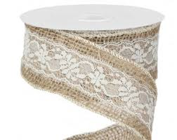 burlap and lace ribbon ivory lace burlap ribbon 2 5 w x 10 yd