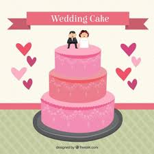 free vector flat pink wedding cake 27189 my graphic hunt