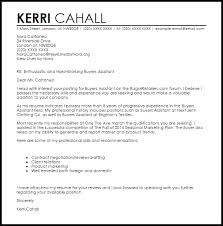 buyers assistant cover letter sample livecareer