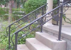 outside stair railing wrought iron railings home depot interior