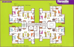 Cluster House Plans Floor Plans Paramount Floraville Buniyad Retail Noida