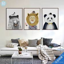 Home Wall Art Decor 2017 Northern European Style Animals Poster Print Modern Home Wall