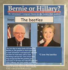 The Beatles Meme - unsolicited opinions on the beatles bernie or hillary know