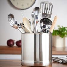 kitchen utensil canister vonshef 7 stainless steel kitchen utensil holder reviews wayfair