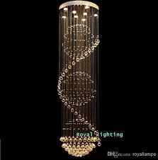 Best Crystal Chandelier Big Stairway Crystal Chandelier Led Lamps Long Creative Europe