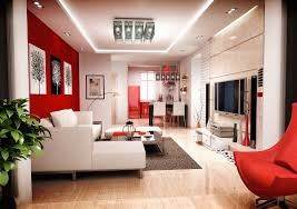 and red living room furniture interior design