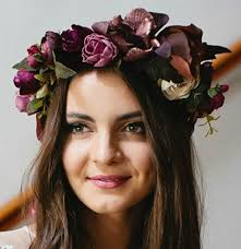 headband flowers cranberry burgandy flower crown headband flower headpiece