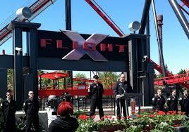 First Six Flags Inpark Magazine U2013 Six Flags Great America Opens X Flight